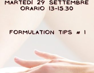 Formulation tips primo corso